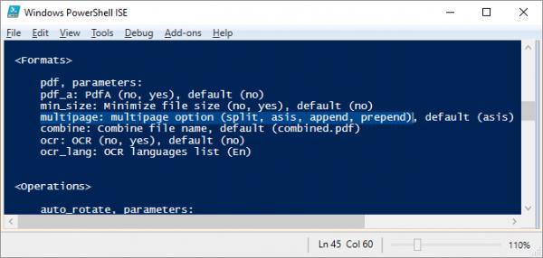 2PDF multipage option to merge files via CLI