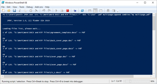 2PDF command line batch conversion – Word to PDF