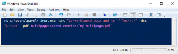 Merge multiple Word and RTF files into one PDF