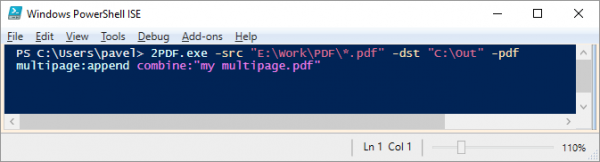Run PDF merge from the command line